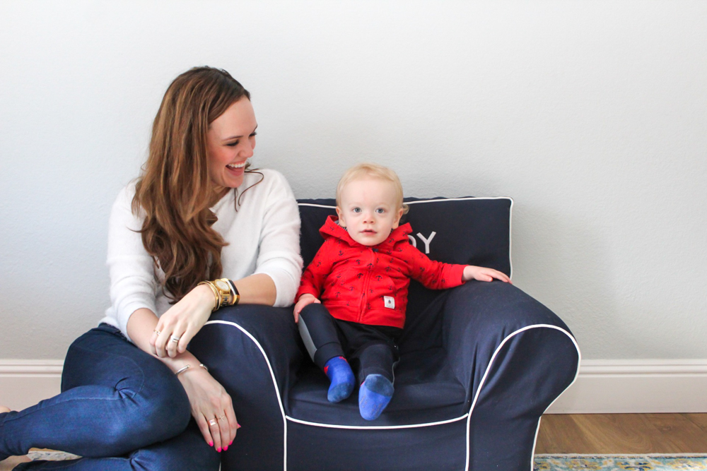 Brady and Ashley in the playroom by A Lady Goes West -- Brady's 16-month update