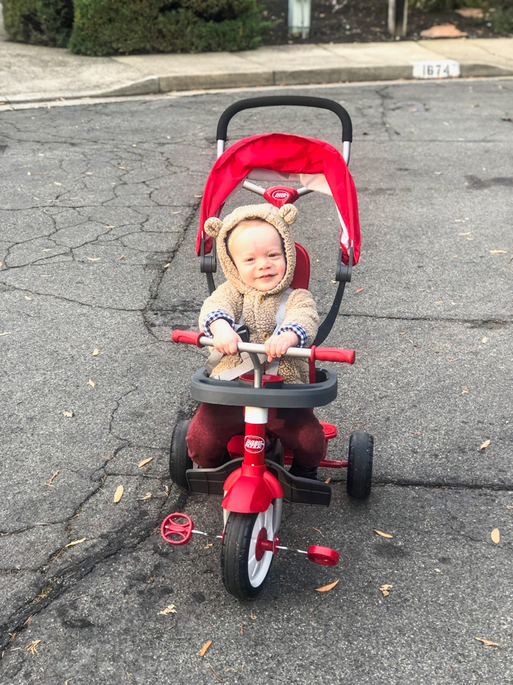 Brady in his tricycle by A Lady Goes West -- Brady's 16-month update