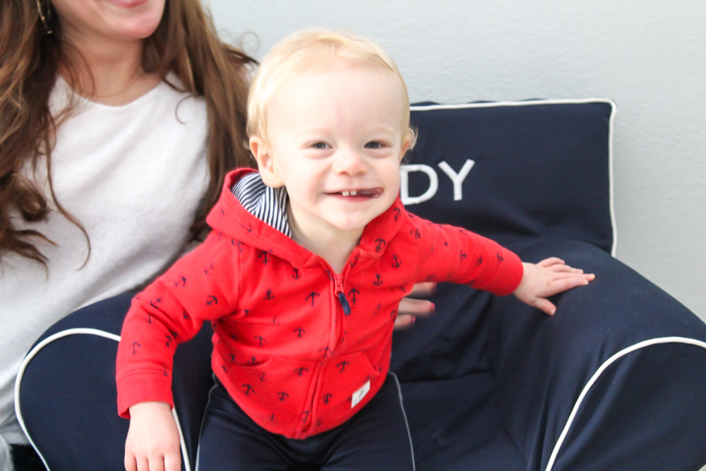 Brady in the playroom by A Lady Goes West -- Brady's 16-month update