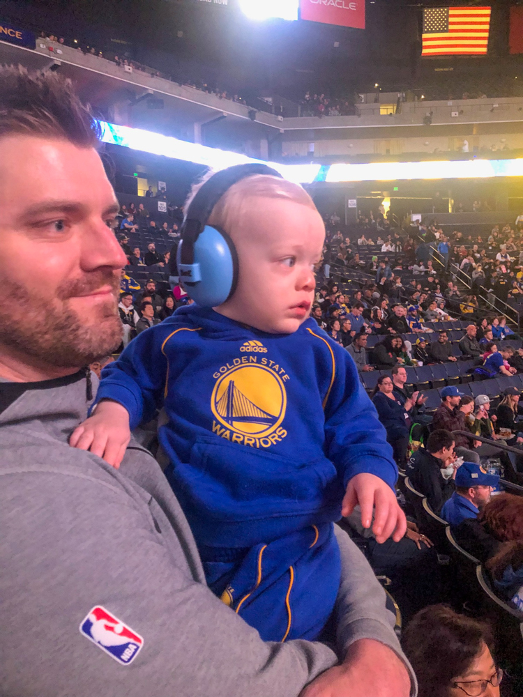 Brady's first basketball game in Oakland by A Lady Goes West - February 2019