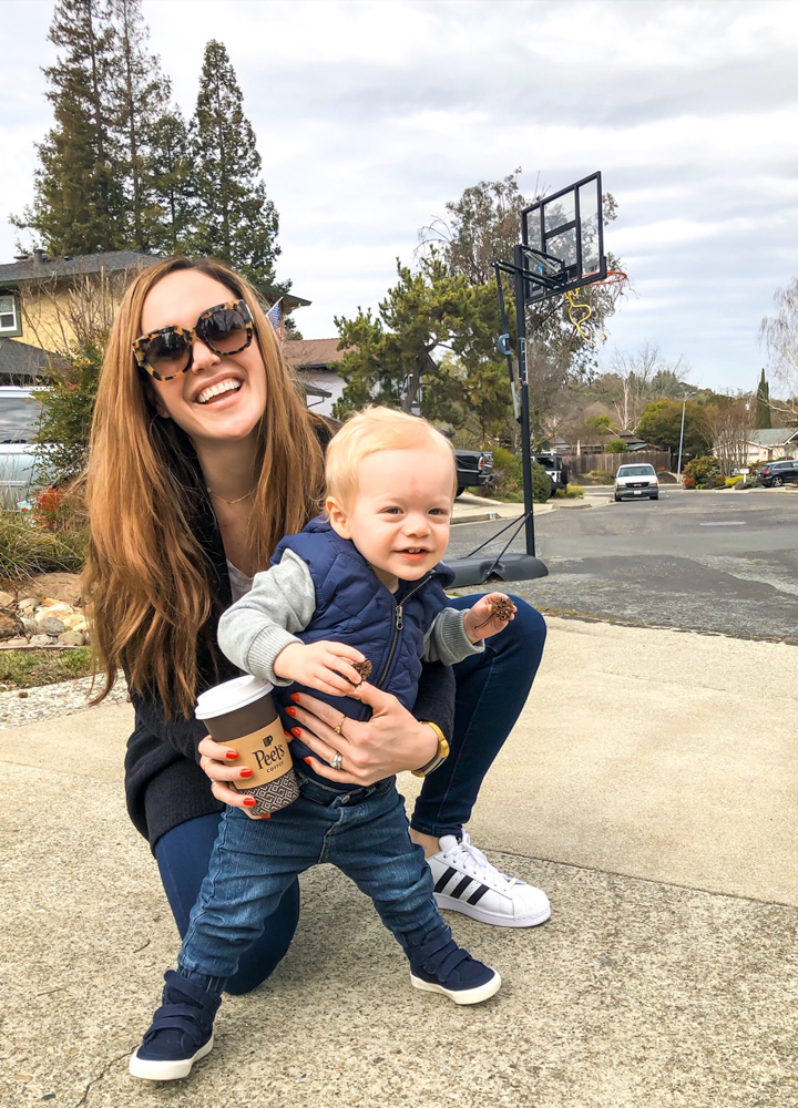 Ashley and Brady on the driveway by A Lady Goes West -- March 2019
