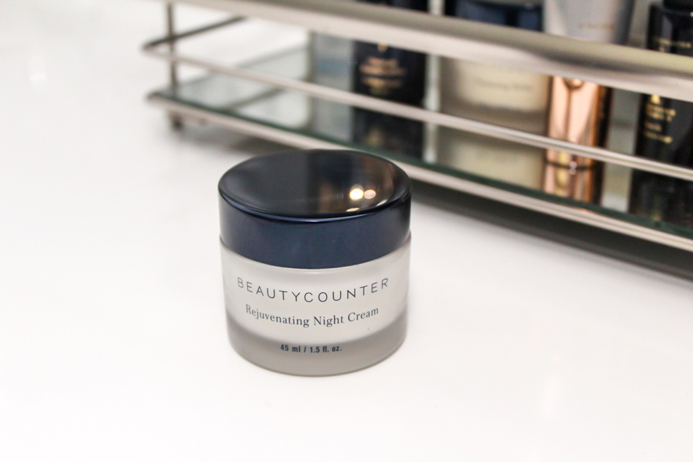 Beautycounter Rejuvenating Night Cream and skincare routine by A Lady Goes West