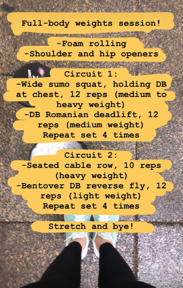 Full-body weights workout by A Lady Goes West --- March 2019