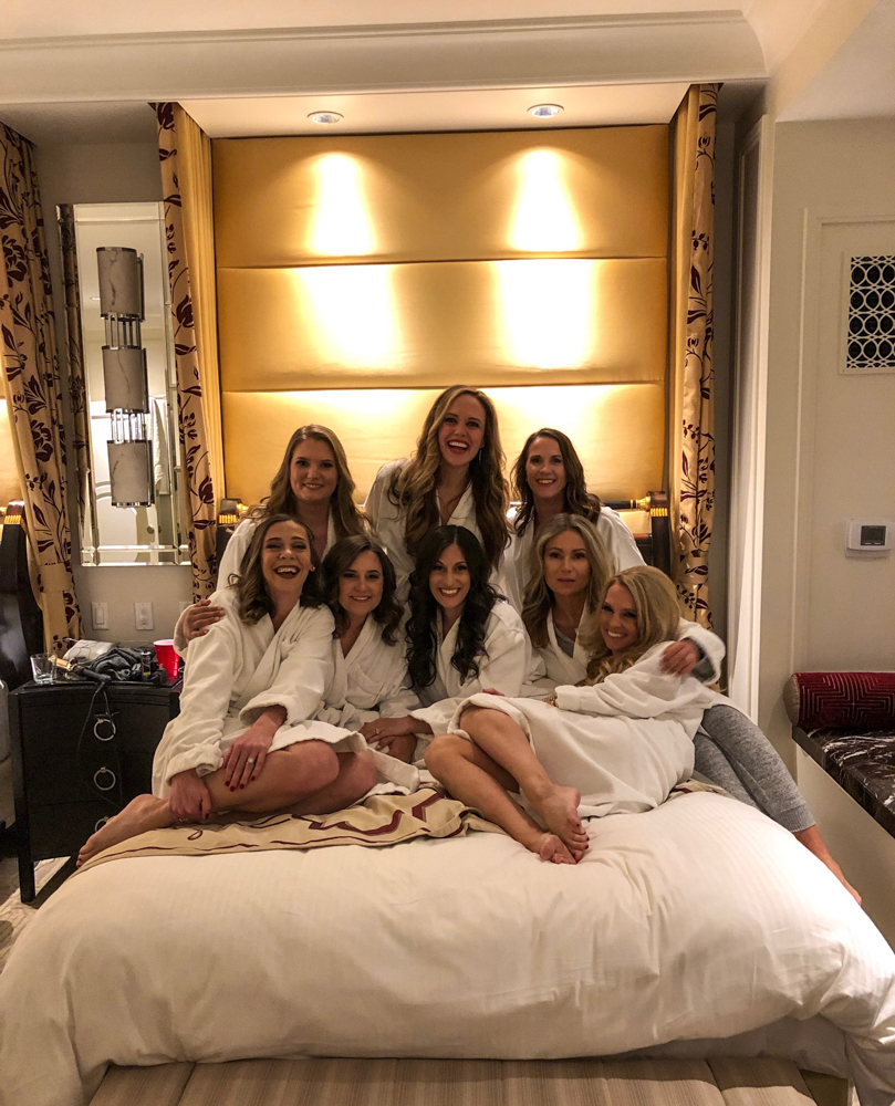 Girls in robes in Vegas by A Lady Goes West -- March 2019