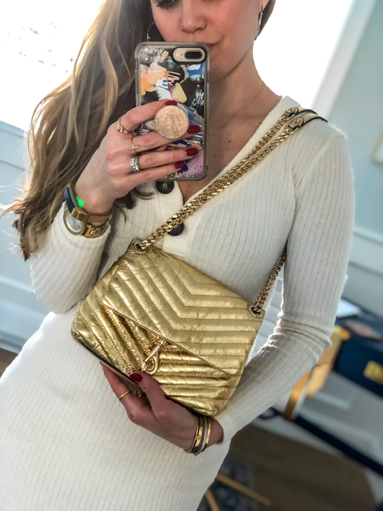 New gold purse by A Lady Goes West -- March 2019