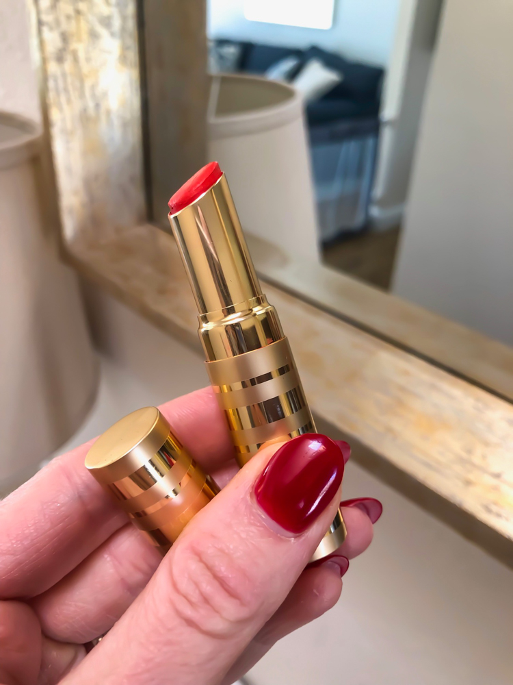 Perfect Beautycounter red lipstick by A Lady Goes West -- March 2019