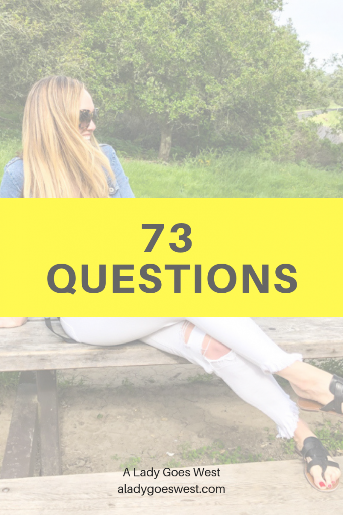 73 questions by A Lady Goes West