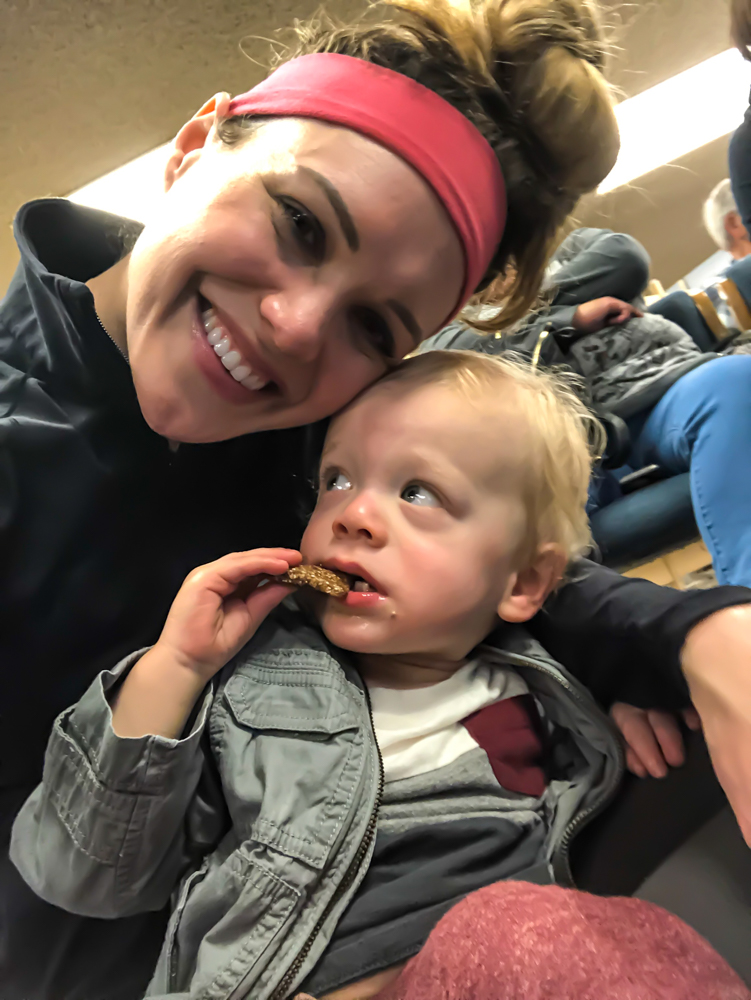 Ashley and Brady at the library by A Lady Goes West --- March 2019