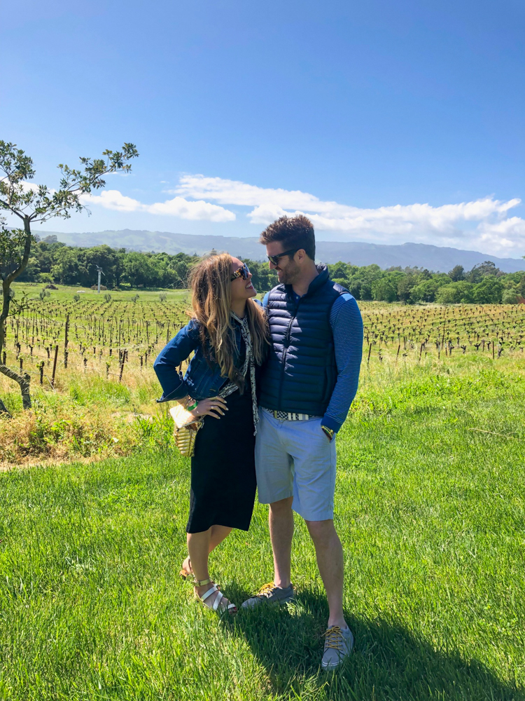 Ashley and Dave at Gundlach Bundschu Winery in Sonoma by A Lady Goes West