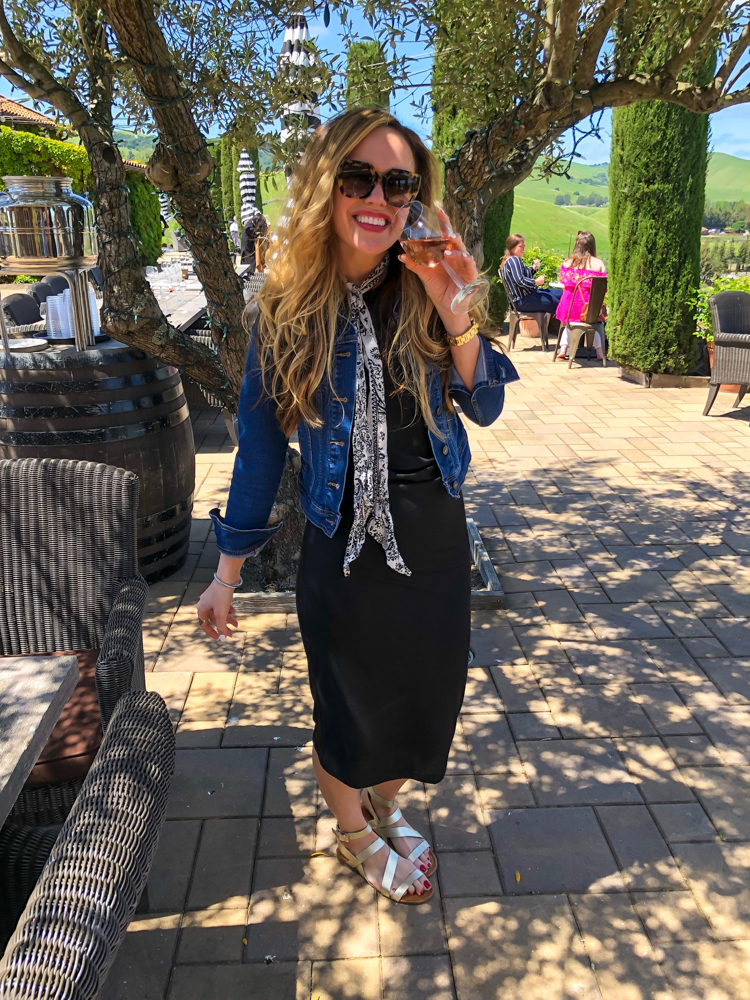 Ashley at Viansa Winery in Sonoma by A Lady Goes West