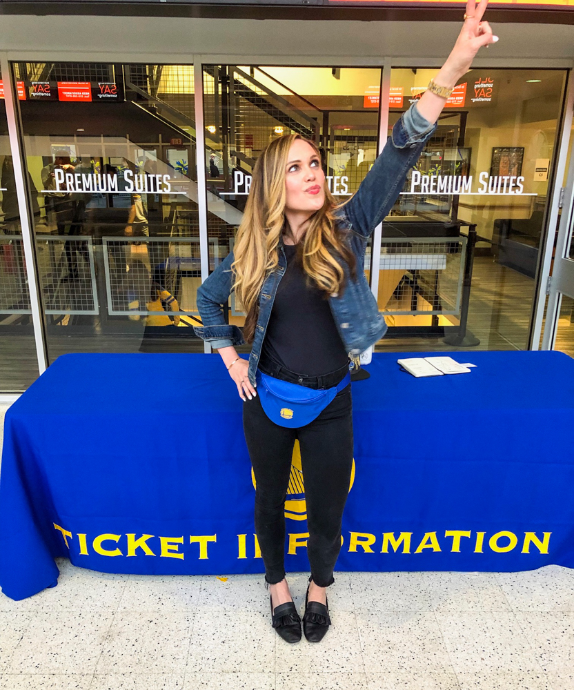 Ashley at the Warriors game by A Lady Gos West --- April 2019
