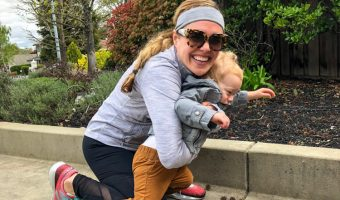 Ashley with Brady outside A Lady Goes West --- April 2019
