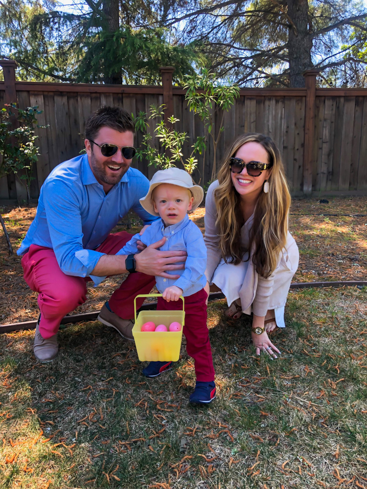 Family on Easter Sunday 2019 by A Lady Goes West - Brady at 18.5 months