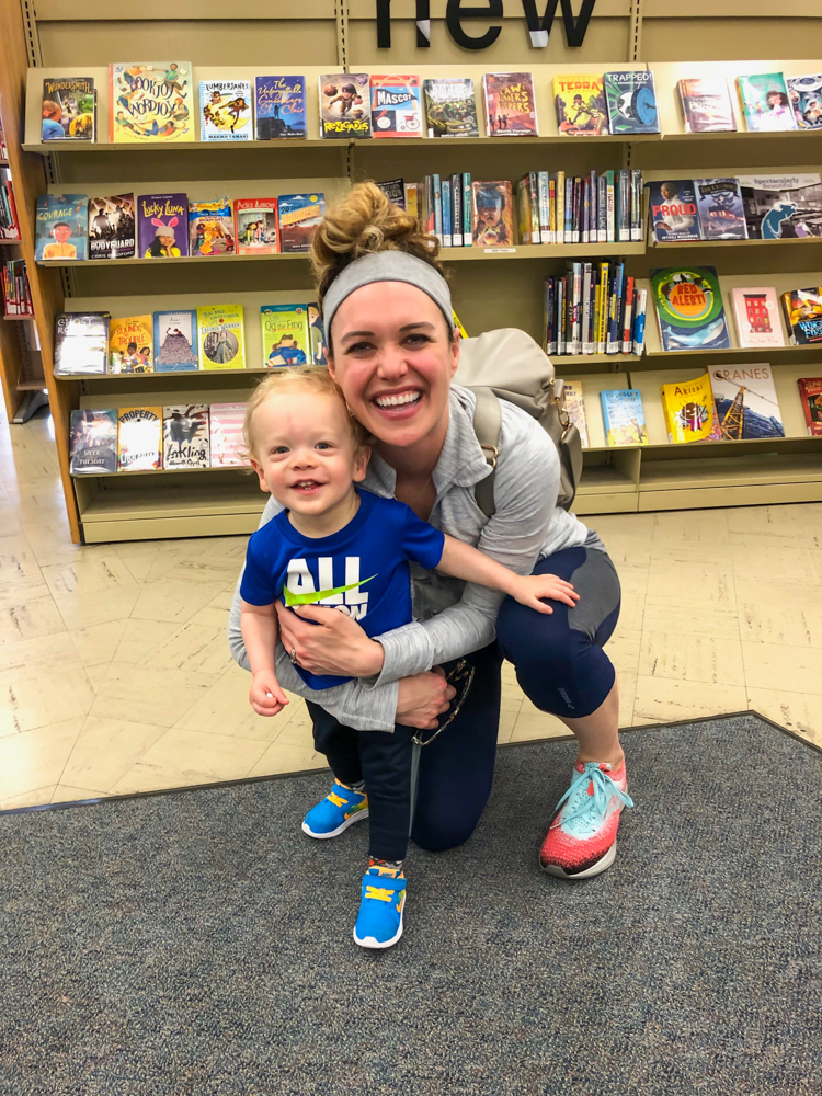 Ashley and Brady at the library by A Lady Goes West - April 2019
