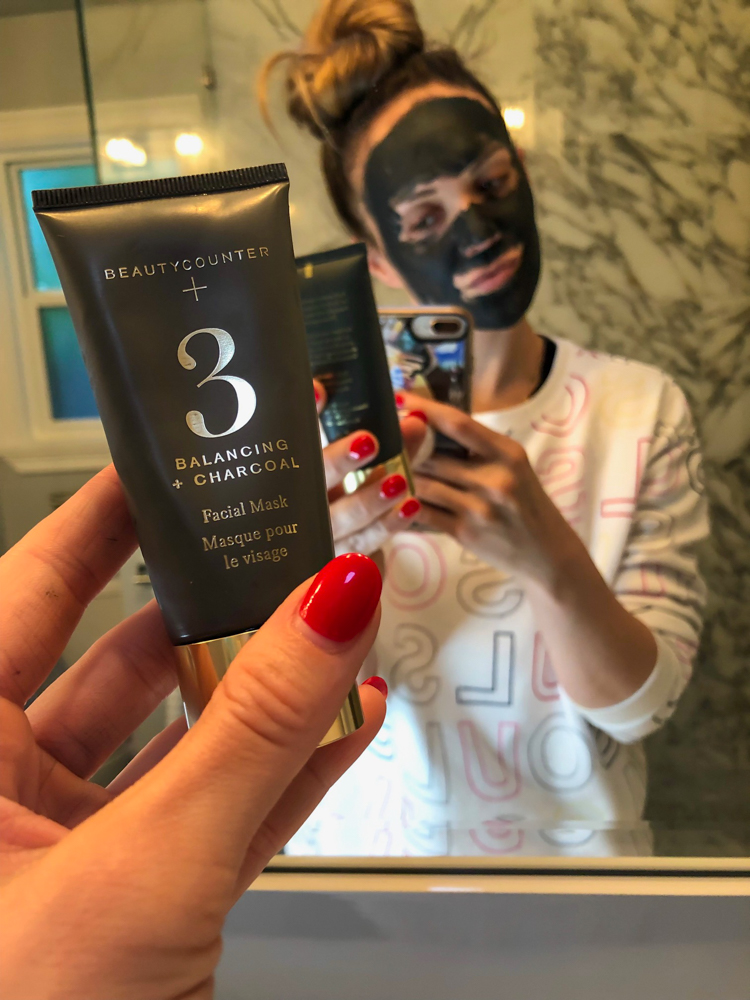 Ashley doing face mask by A Lady Goes West - May 2019