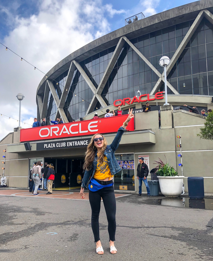 At Warriors game by A Lady Goes West - May 2019