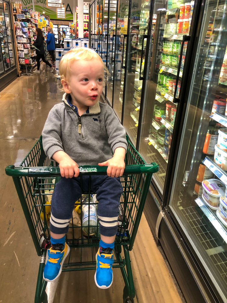 Brady at the grocery store by A Lady Goes West - May 2019
