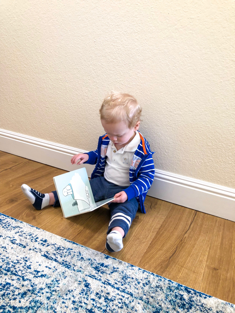 Brady reading - 19 months by A Lady Goes West - May 2019