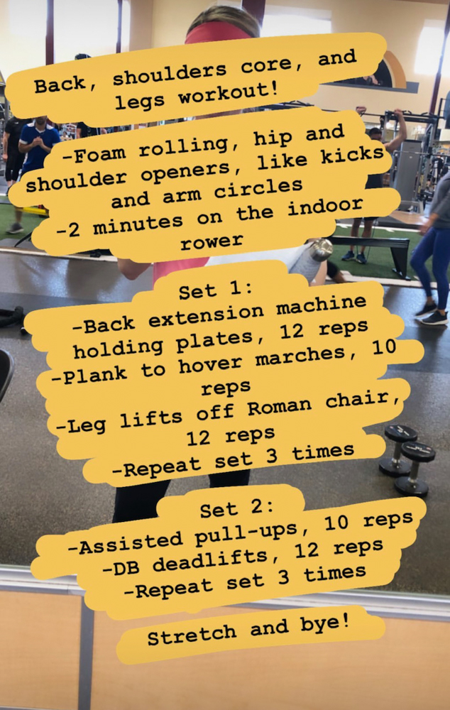 Weights workout by A Lady Goes West - May 2019