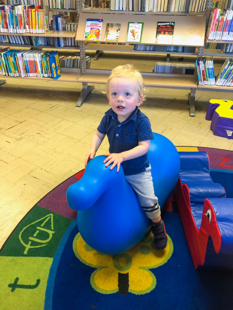 Brady at storytime - 19 months by A Lady Goes West - May 2019