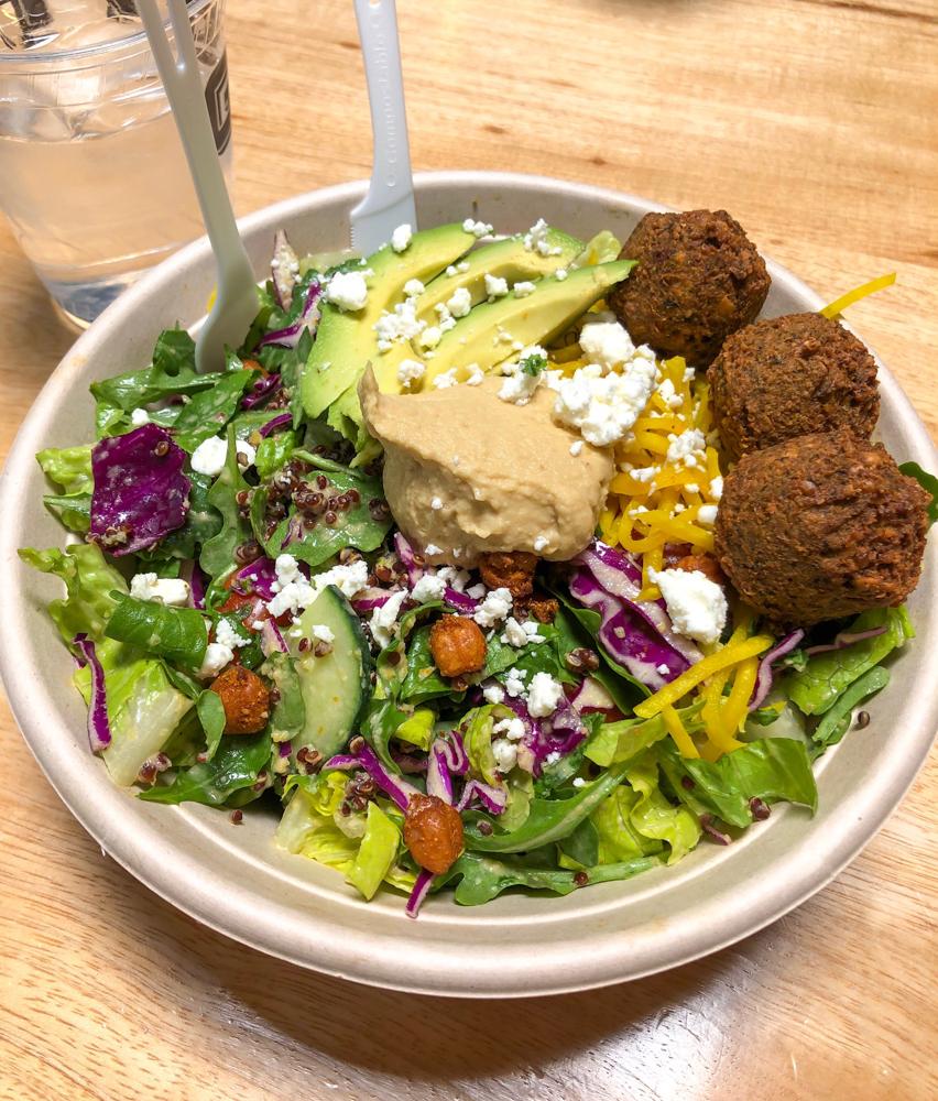 Falafel salad at Gott's by A Lady Goes West - June 2019