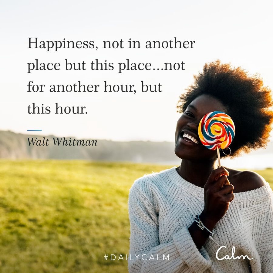 Happiness quote from the CALM app