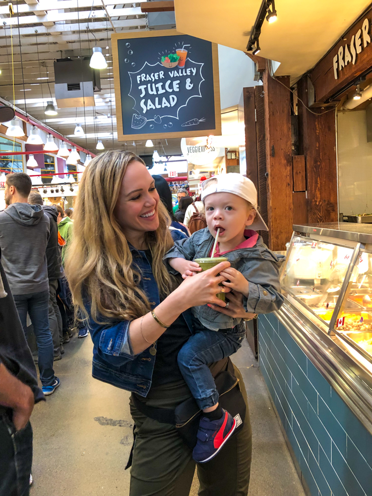 Ashley and Brady at Granville Market by A Lady Goes West - July 2019