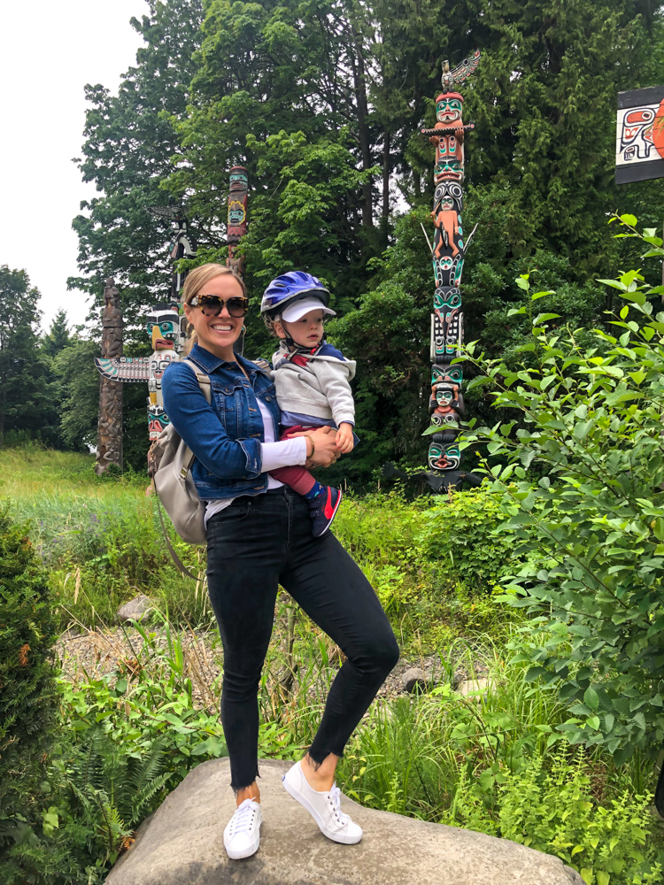 Ashley and Brady at Totems in Stanley Park by A Lady Goes West - July 2019