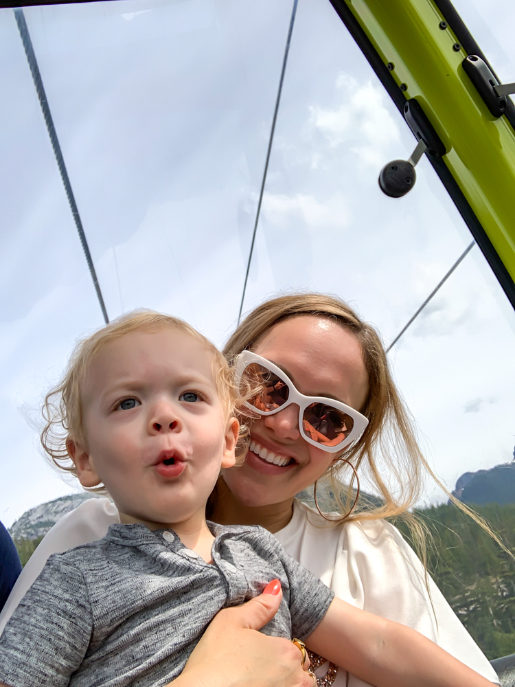 Ashley and Brady on the gondola by A Lady Goes West - July 2019