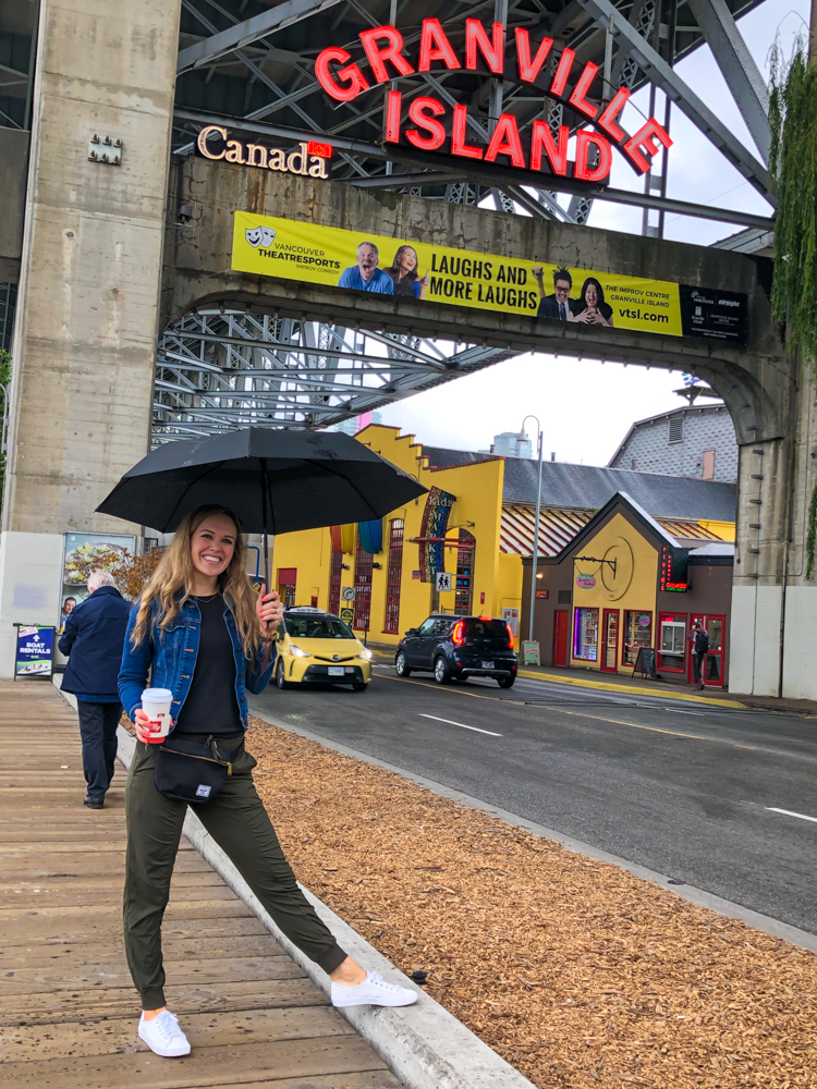 Ashley in front of Granville Market by A Lady Goes West - July 2019