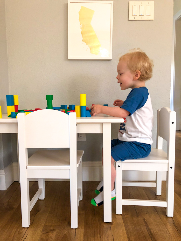 Brady at his new table by A Lady Goes West - July 2019