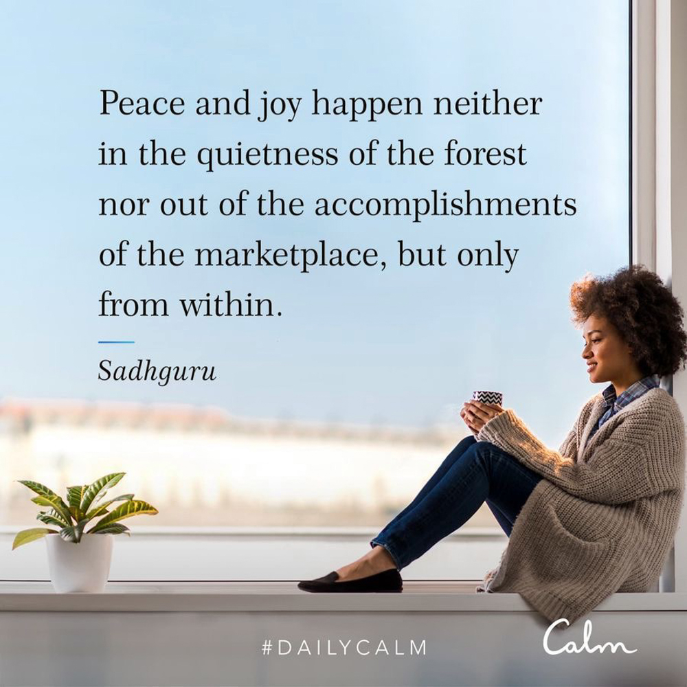 Daily Calm forest quote by A Lady Goes West - July 2019