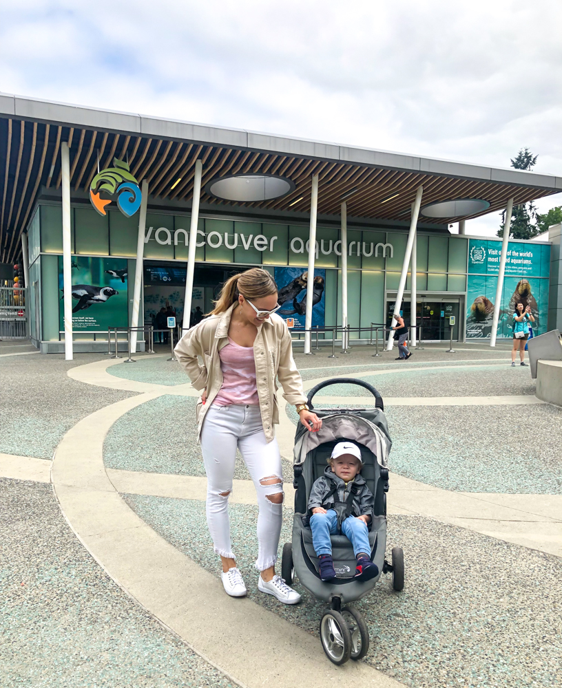 Jacket in front of Vancouver Aquarium by A Lady Goes West - July 2019
