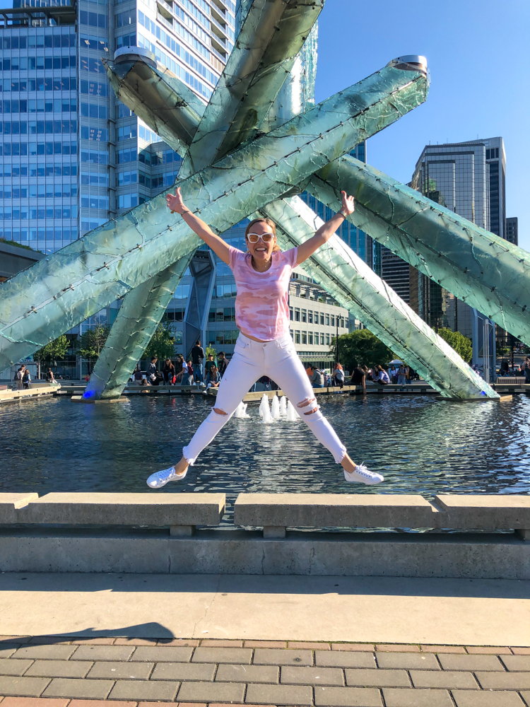 Jumping at Canada Place by A Lady Goes West - July 2019