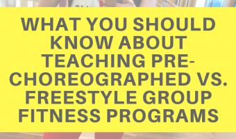 What you should know about teaching pre-choreographed vs. freestyle group fitness programs by A Lady Goes West