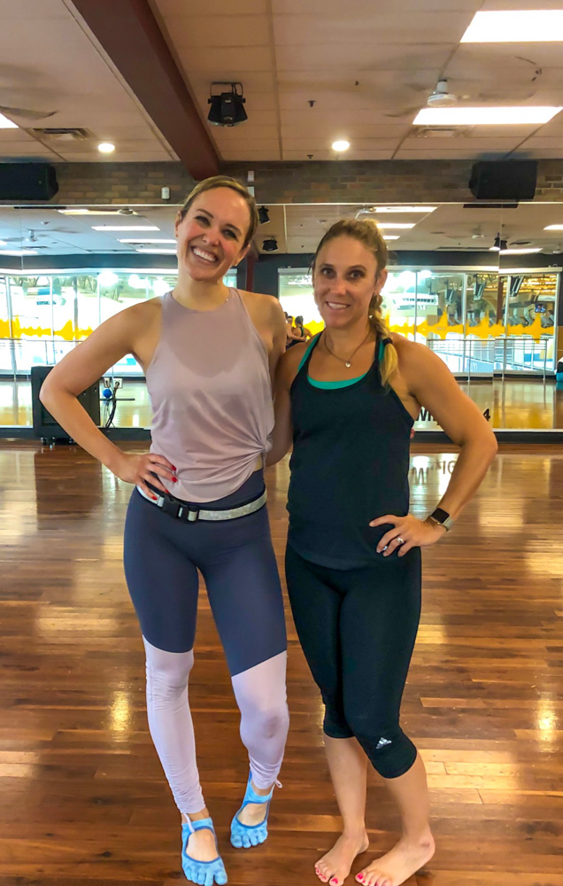 Ashley and Bre at barre -- A Lady Goes West - August 2019