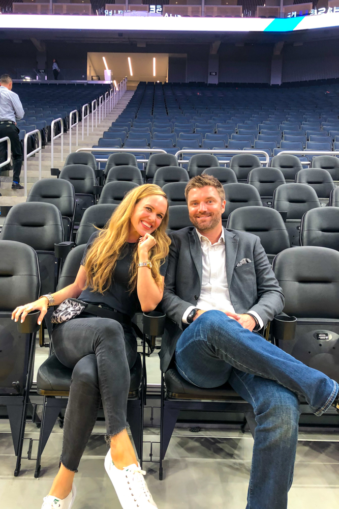 Ashley and Dave at Chase Center in SF by A Lady Goes West -- August 2019