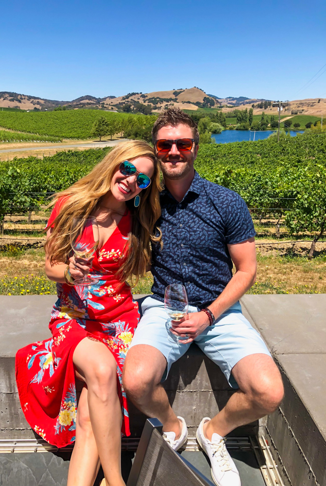 Ashley and Dave at Cuvaison -- A Lady Goes West - August 2019