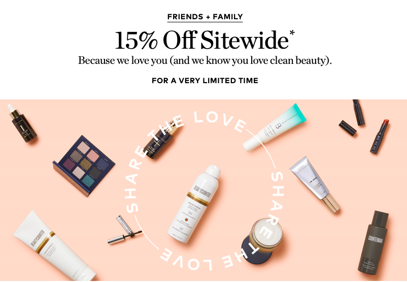 Beautycounter friends and fam sale