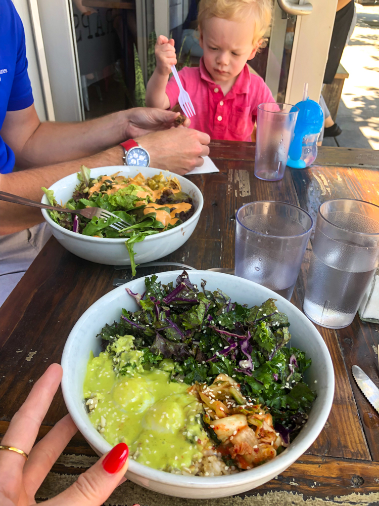 Lunch bowls with Brady - A Lady Goes West - August 2019