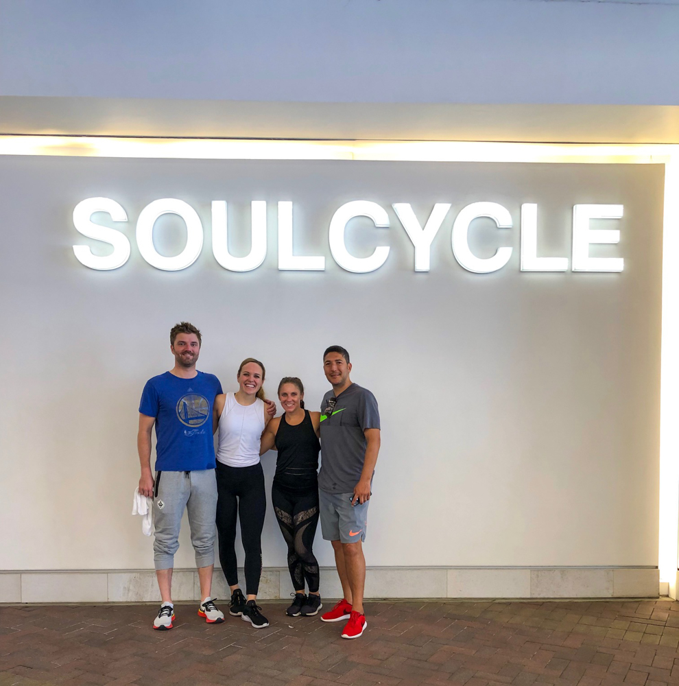 Mooitts after SoulCycle -- A Lady Goes West - August 2019