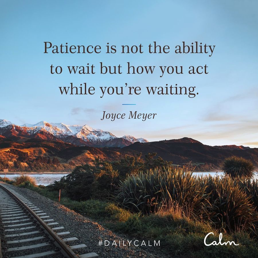 Patience quote from Calm