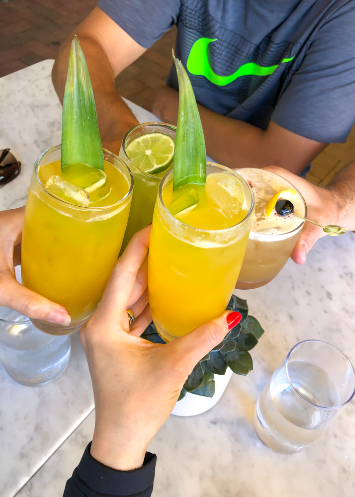 True Food brunch drinks -- A Lady Goes West - August 2019