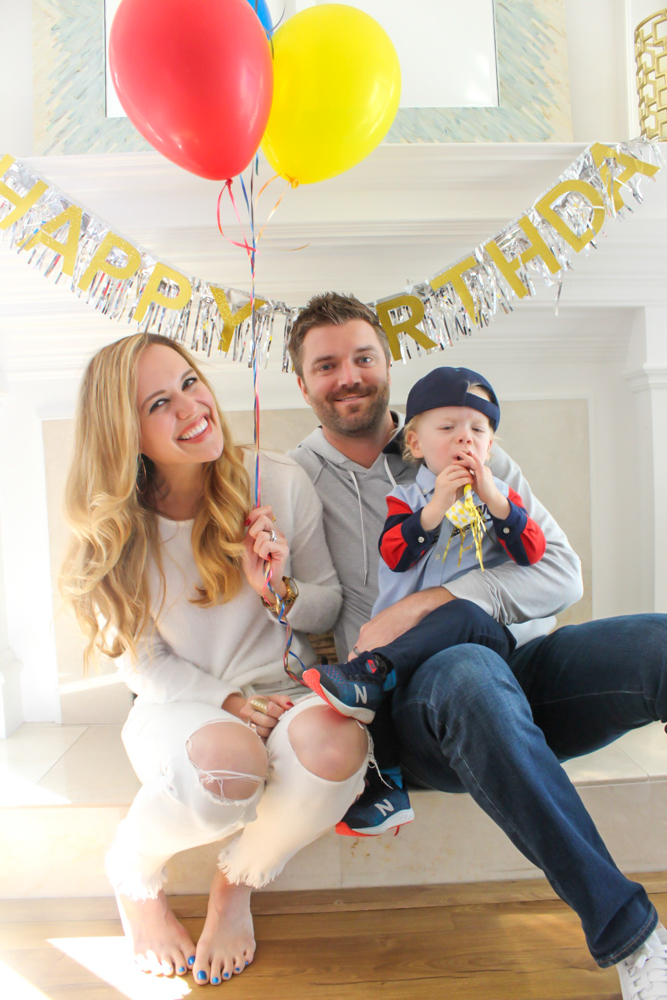 Brady's 2nd birthday party family pic September 2019 by A Lady Goes West