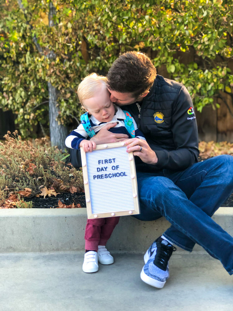 Brady's first day of 2-year-old preschool September 2019 by A Lady Goes West