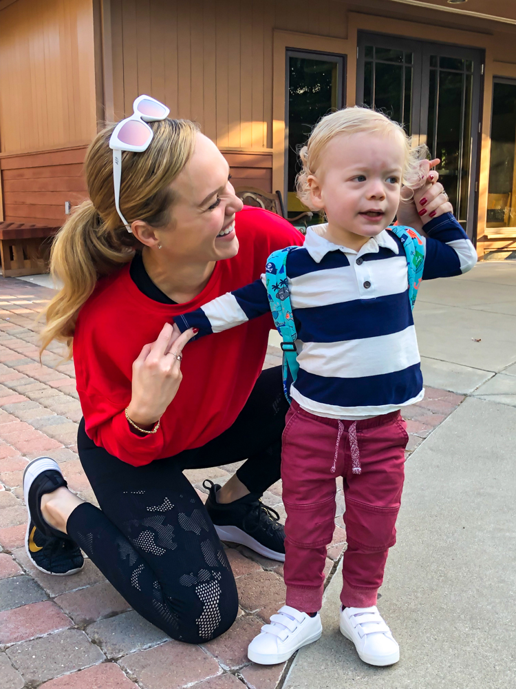 Brady's first day of 2-year-old preschool with mommy September 2019 by A Lady Goes West