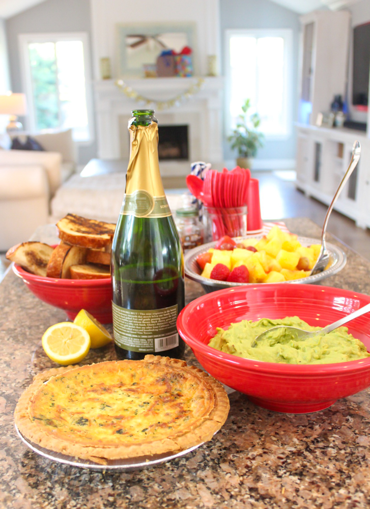Brady's party food spread September 2019 by A Lady Goes West