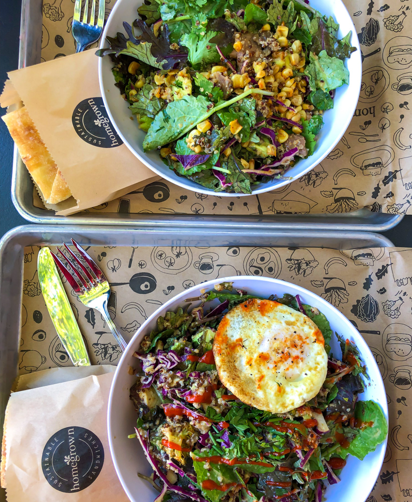Homegrown lunch bowls - by A Lady Goes West -- September 2019