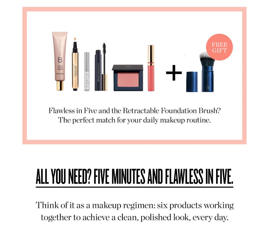 Flawless in Five with Beautycounter gift by A Lady Goes West