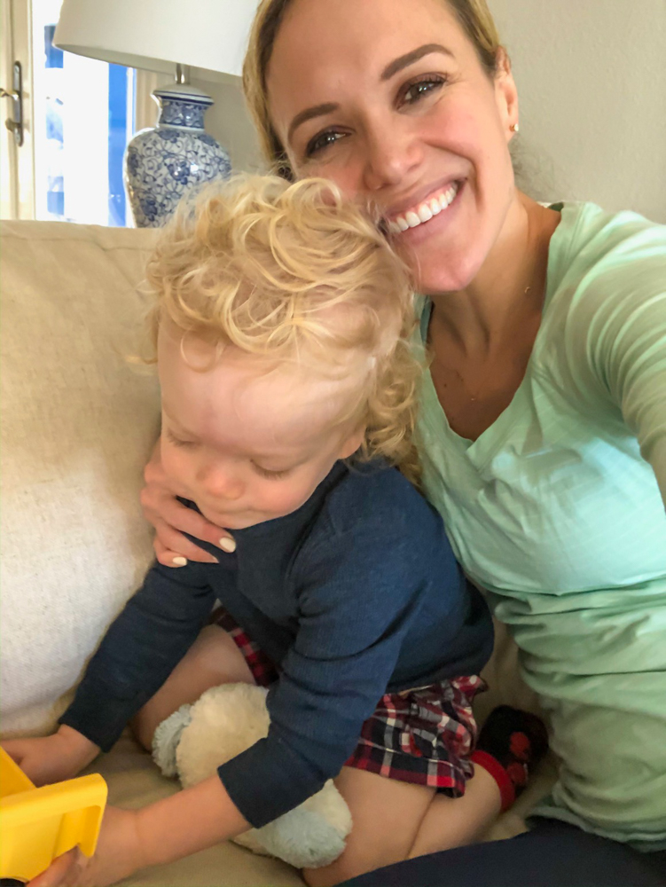 Ashley and Brady at home on couch by A Lady Goes West -- October 2019